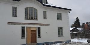 putsfasad på nyproduktion Djursholm (1)
